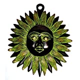 "Craft Store India Hand Made Brass Hanging Sun 6""x4"""