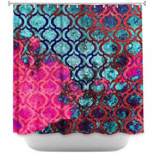 Shower Curtain Artistic Designer from DiaNoche Designs by Iris Lehnhardt Stylish, Decorative, Unique, Cool, Fun, Funky Bathroom - Sky Pattern II