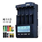 SUJING US Opus BT-C3100 V2.2 Digital Intelligent 4 Slots AA/AAA LCD Battery Charger Smart Battery Charger/Power Adapter/User Manual (Color: Black)