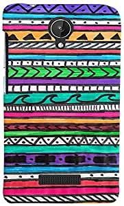 PRINTVISA 3D-MMXSPARK-D7957 Pattern Abstract Art Case Cover For Micromax Canvas Spark Q380