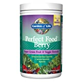 Garden of Life Whole Food Fruit and Vegetable Supplement - Perfect Food Superfood Green Dietary Powder Berry, 240g