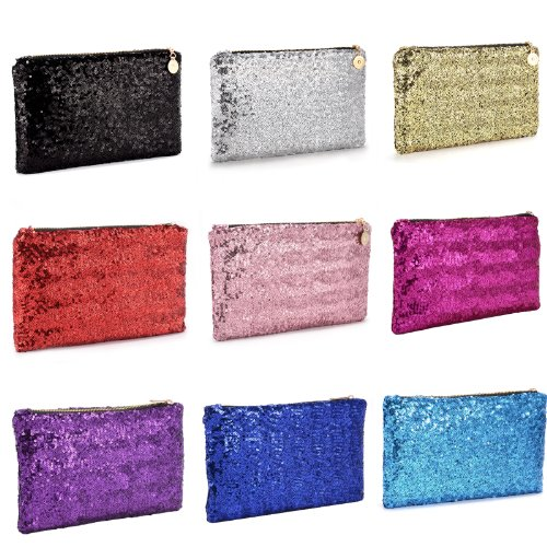 Ladies Dazzling Glitter Sparkling Sequins Evening Party Clutch Bag Handbag Purse