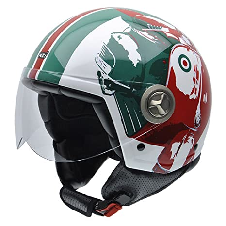 NZI 050267G769 Zeta Graphics Mod Green, Casque de Moto, Taille S Multicolore