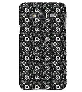Fuson Premium Black Flowers Design Printed Hard Plastic Back Case Cover for Samsung Galaxy Grand 3 G7200