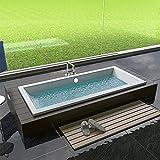 Design Badewanne Rechteck Badewanne 1800 x 800 x 475 mm