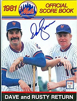Dave Kingman autographed New York Mets program 1981 - MLB Autographed Miscellaneous Items