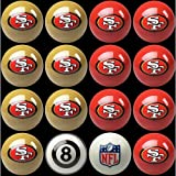 NFL San Francisco 49ers Home Versus Away Team Billiard 8-Ball Set