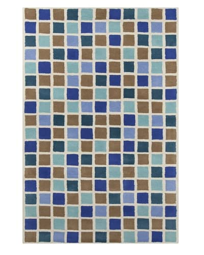 Filament Lala Hand-Tufted Wool Rug, Brown/Blue, 5' x 7' 6