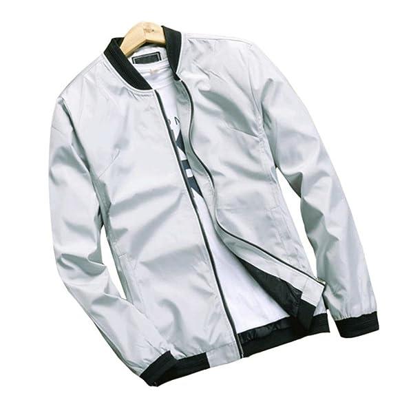 Hzcx Fashion Mens Zipper Up Casual Light Weight Flight Bomber Jackets