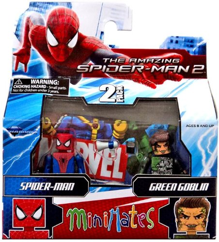 Marvel Minimates Series 56 Mini-Figure Spider-Man with Norman Osborn/Green Goblin (Marvel Minimates Green Goblin compare prices)