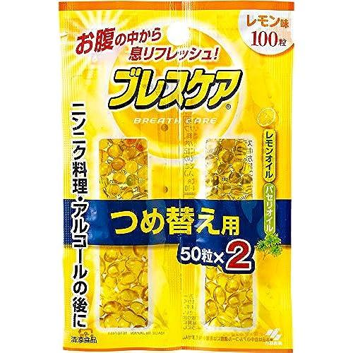 [구강 청결제 브레스 케어 (Breath care)] 입냄새 케어 민트/레몬 리필용 100알(50알×2개)