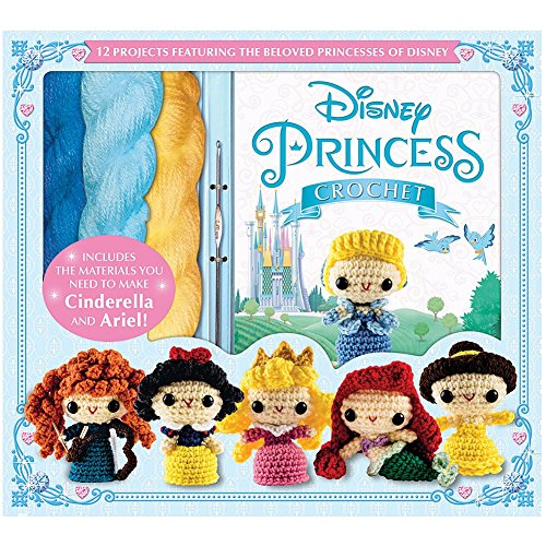 Disney Princess Crochet Kit- Make Cinderella, Ariel w/ Yarn and Instructions