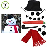 Evelots Perfect Snowman Decorating Kit-16 Pieces-Family Fun-Sturdy Prongs-Set/2 (Tamaño: 2 Snowman Kits)