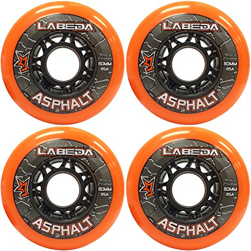 Labeda Asphalt Wheels (4 Pack) (Outdoor Roller Hockey Wheels compare prices)