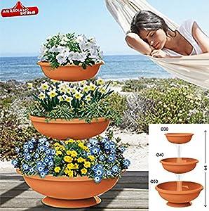 Vaso fioriera plastica bama fontana interno esterno for Fioriera bama