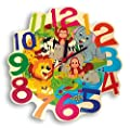 Hess Wooden Toy 30011 Jungle Animals - Children's Wall Clock Diameter 21 cm from Hess Holzspielzeug