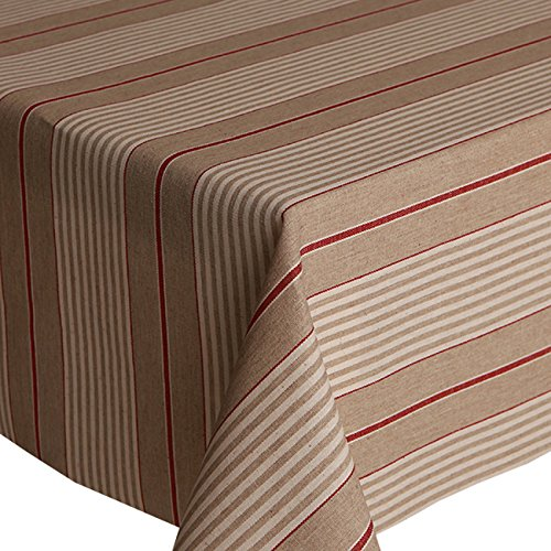 acrylic-coated-tablecloth-harbour-stripe-red-2-metres-200cm-x-140cm-linen-look-stripes-lines-french-