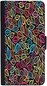 Snoogg A Seamless Pattern With Leafdesigner Protective Flip Case Cover For Ht...