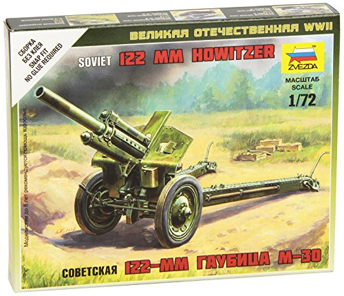 Zvezda 1/72 Snap Fit Soviet Howitzer 120mm M30 Military Model Kit