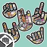 STICKER BOMB SET 01 - The Shocker, Rocker, Fuck Off, Fist, Hang Loose Hand Aufkleber Decal Sticker Bombing NEU | DUB DUBWAY