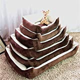 ペット用ベッド 犬・猫用 ソファ 保温クッション マット 骨柄 簡易 洗える もこもこ 中型犬  小型犬 大型犬 0-40KG犬適応 (XL)