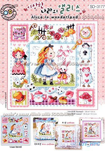 Alice in Wonderland - a fairy tale cross stitch kit. SODA-3177, sodastitch (Soda Cross compare prices)