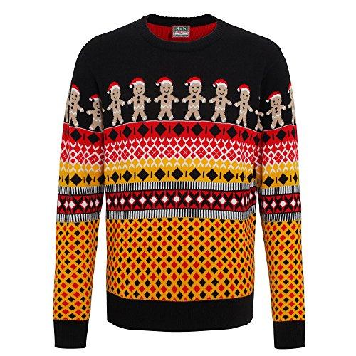 Christmas-Shop-Herren-Strickullover-mit-weihnachtlichem-Norwegermuster
