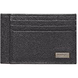 Salvatore Ferragamo Sunrise Pebbled Leather Card Holder Wallet