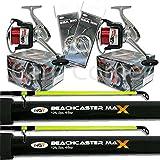 2 x 2pc12ft 4-6oz Beachcaster Rods Sea Fishing Reels Loaded Line Combo Setup