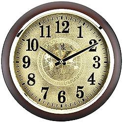 Sinceda 12.5 Inch Modern Non Ticking Silent Quartz Analog Digital Wall Clock