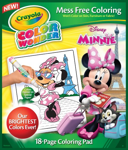 Crayola Minnie Mouse Color Wonder Refill Book Hertop Titioer