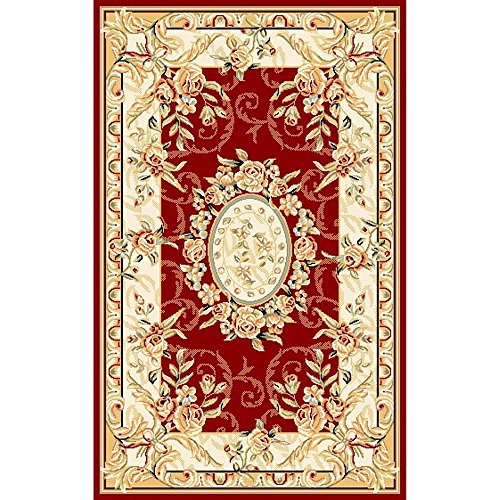Safavieh Lyndhurst Collection LNH328C Red and Ivory Area Rug, 3 feet 3 inches by 5 feet 3 inches (3