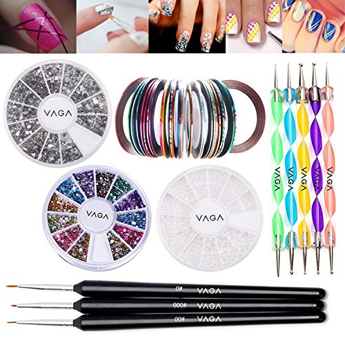 Vaga-Professional-Nail-Art-Decorations-Tools-Kit-6-Items