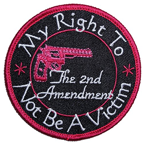 Leather Supreme My Right To Not Be A Victim Lady Rider Embroidered Biker Patch-Pink-Small