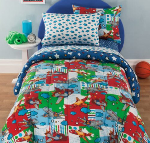 Kids Airplane Bedding front-889608