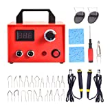 SEAAN Wood Burning Kit with 21 Pyrography Tips, Dual Pen Pyrography Machine for Wood Burning Adjustable Digital Temperature Knob Electric Wood Burner Detailer for Wood/Leather/Gourd, 110V 100W (Tamaño: Dual Pen-100W)
