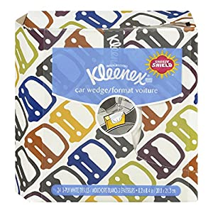 Kleenex Auto Wedge Facial Tissue, 24-Count (Pack of 18)