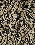 """Flowing Foliage Damask Series 6115 Ebony Vinyl Tablecloth 54"""" X 75' Roll"""
