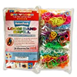Loom Rubber Bands Refills Value Pack – 1800 Bands (600 with Glow in the Dark Neon Effect) – $13.45!