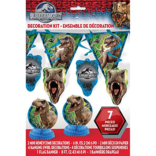 Jurassic World Party Decoration Kit, 7pc
