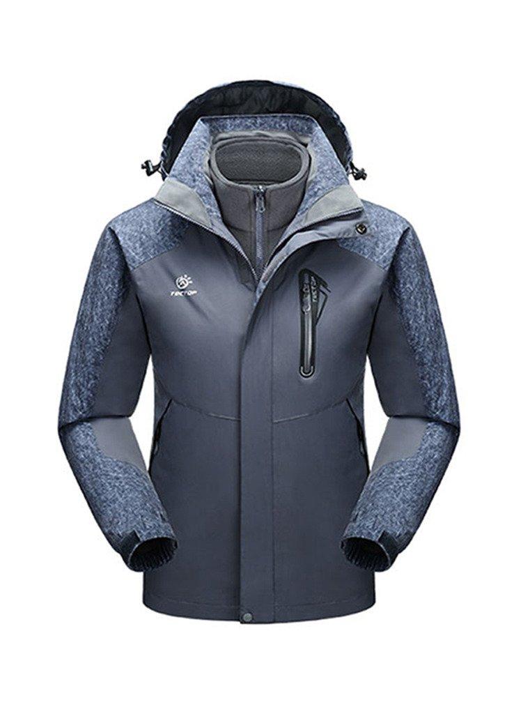 OUO 2015 Herren Winter Hebst 3-in-1 Jacke Winterbekleidung Wetterschutzjacke Kälteschutz Reißverschluss Sport Kaputze kaufen