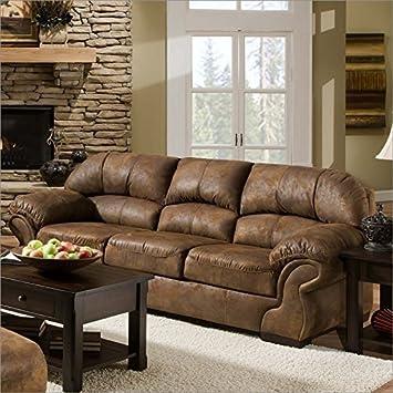 Simmons Upholstery 6270 Pinto Tobacco Sofa