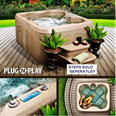 Lifesmart Rock Solid Simplicity Plug and Play 4 Person Spa With 12 Jets by Lifesmart