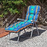 Alfresia Traditional Luxury Sun Lounger Cushion in Aztec