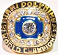 1972 Miami Dolphins (Last Undefeated Team) Super Bowl Replica Championship Ring Size 11 - Bob Griese - Shipped from USA. - Miami Dolphins Memorabilia