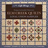 "Elm Creek QuiltsLoyal Union Sampler Gift Wrap: 4 Patterns, 12 Sheets20"" × 30"" for a total of 50 sq. ft. + 12 Gift Tags"