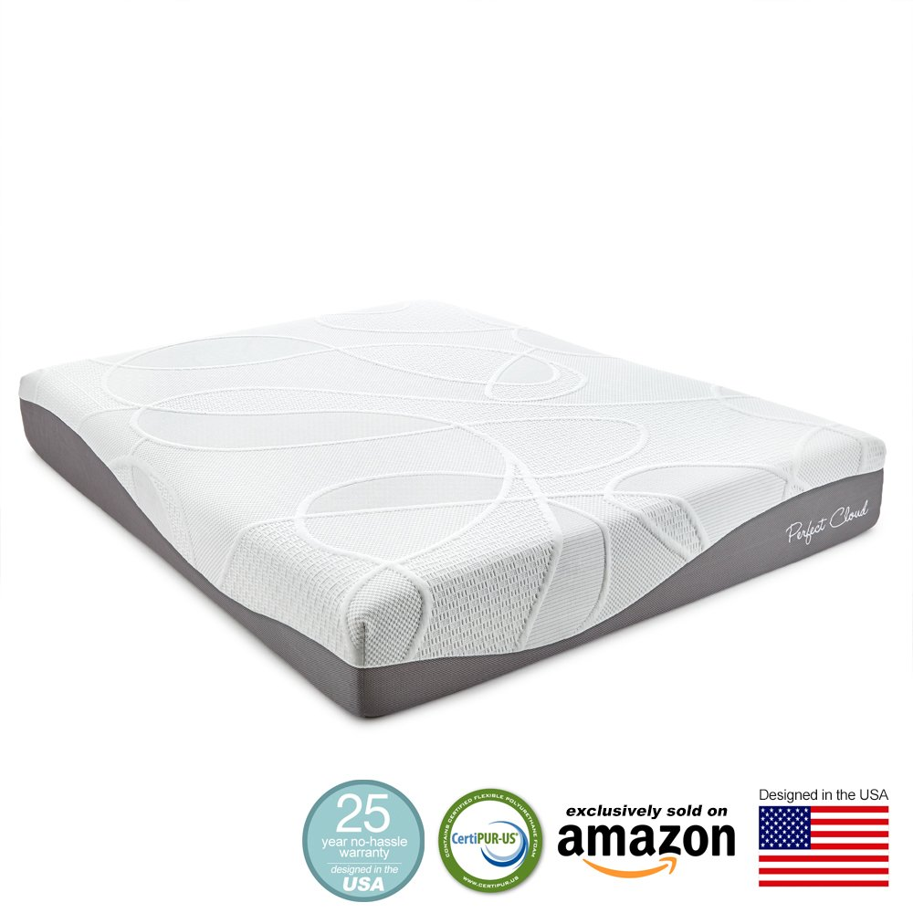 Perfect Cloud Ultraplush Gel Max 10 Inch Memory Foam Mattress Queen Size Ebay