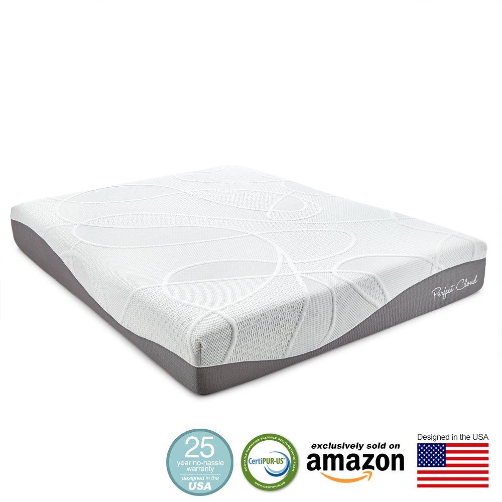 perfect cloud ultraplush gel max 10 inch memory foam mattress queen size ebay. Black Bedroom Furniture Sets. Home Design Ideas