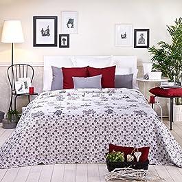 Sancarlos - Colcha bouti diseño leonor morado - relleno ligero - esquinas redondeadas - varias medidas disponibles