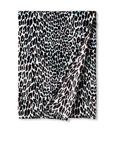 Teen Vogue Leopard Jungle Throw, Aqua
